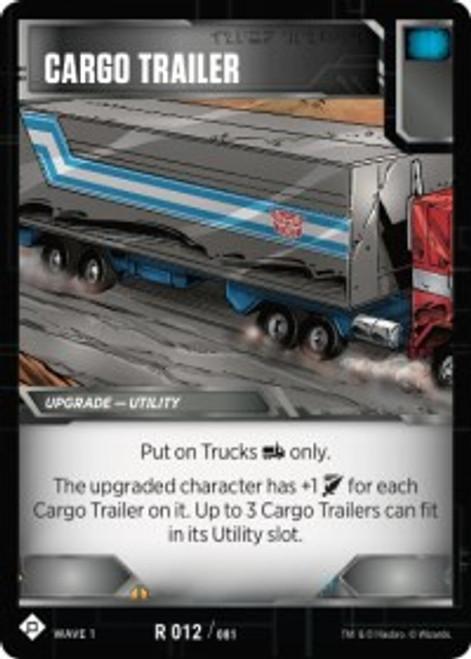 Transformers Trading Card Game Wave 1 Rare Cargo Trailer #012