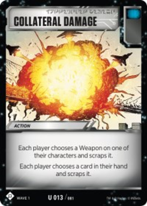 Transformers Trading Card Game Wave 1 Uncommon Collateral Damage #013