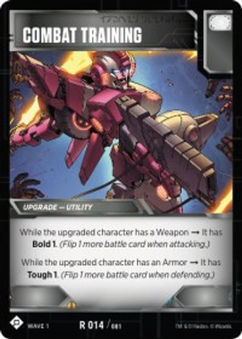 Transformers Trading Card Game Wave 1 Rare Combat Training #014