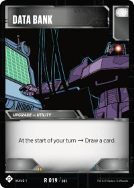 Transformers Trading Card Game Wave 1 Rare Data Bank #019