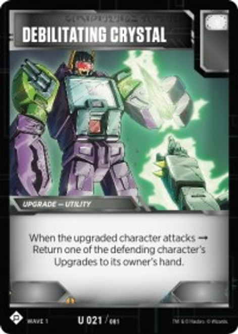 Transformers Trading Card Game Wave 1 Uncommon Debilitating Crystal #021