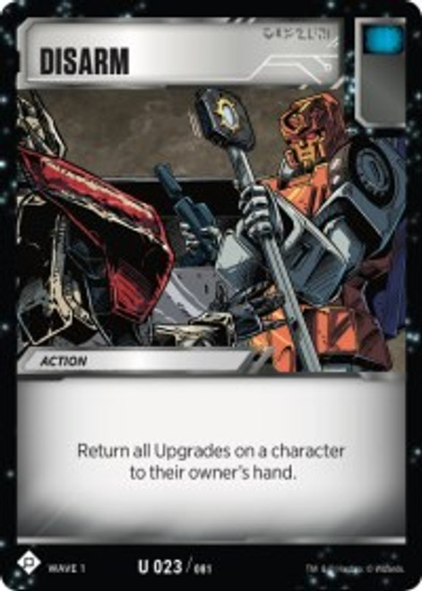 Transformers Trading Card Game Wave 1 Uncommon Disarm #023
