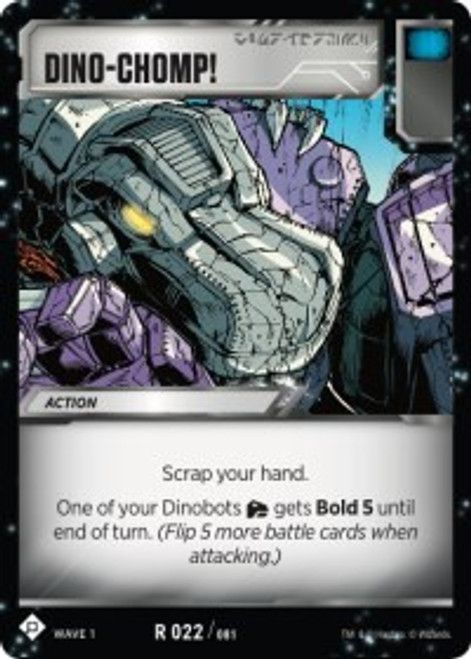 Transformers Trading Card Game Wave 1 Rare Dino-Chomp! #022