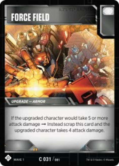 Transformers Trading Card Game Wave 1 Common Force Field #031