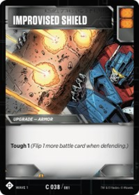 Transformers Trading Card Game Wave 1 Common Improvised Shield #038