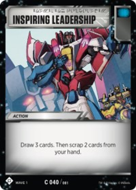 Transformers Trading Card Game Wave 1 Common Inspiring Leadership #040