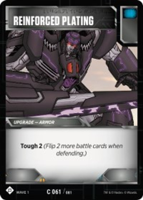 Transformers Trading Card Game Wave 1 Common Reinforced Plating #061