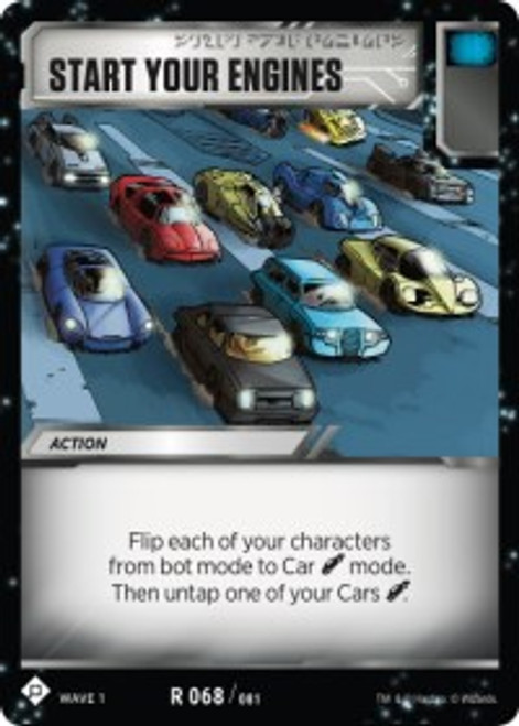 Transformers Trading Card Game Wave 1 Rare Start Your Engines #068