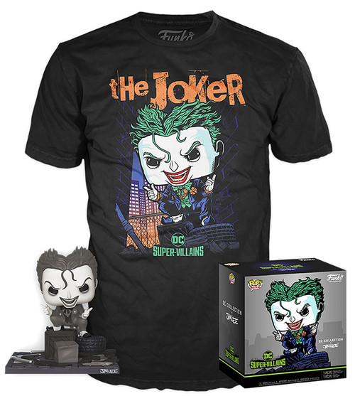Funko DC Collection by Jim Lee POP! Heroes The Joker Exclusive Vinyl Figure & T-Shirt [Hush, Large]