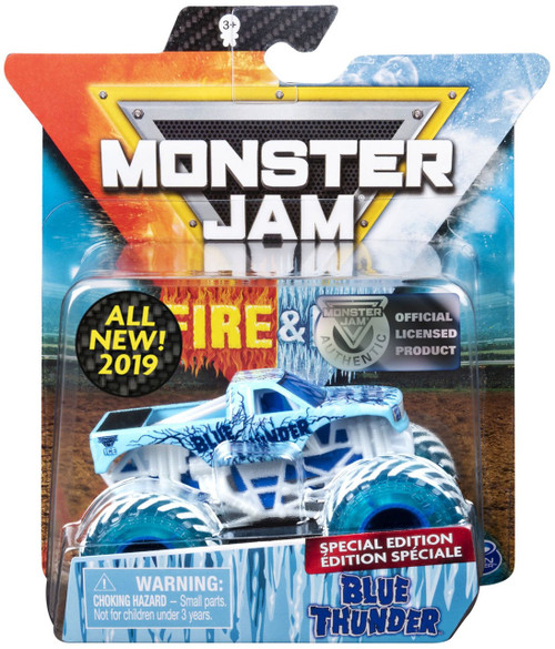 Monster Jam Fire & Ice Blue Thunder Exclusive Diecast Car
