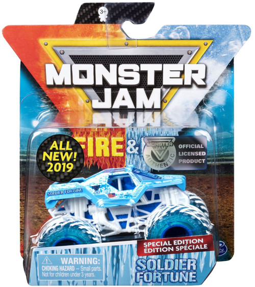 Monster Jam Fire & Ice Soldier Fortune Exclusive Diecast Car