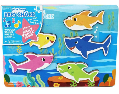 Pinkfong Baby Shark Chunky Wooden Sound Puzzle [Plays Baby Shark Song]