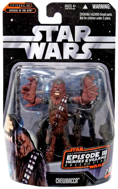 Star Wars The Empire Strikes Back 2006 Episode III Heroes & Villains Chewbacca Action Figure #7