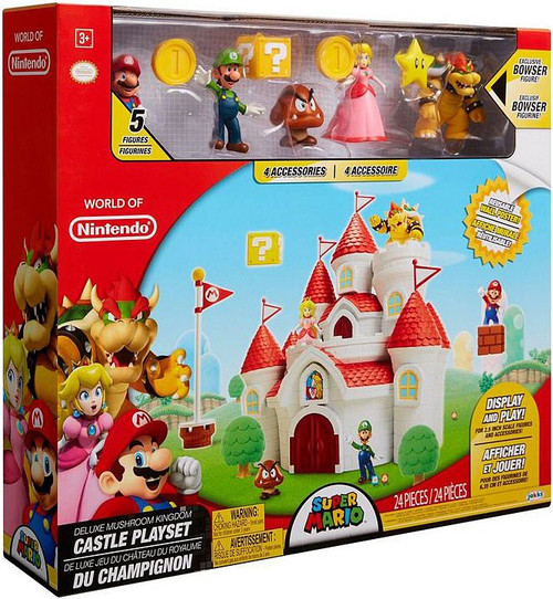 World of Nintendo Super Mario Mushroom Kingdom Castle Playset [DELUXE Version]