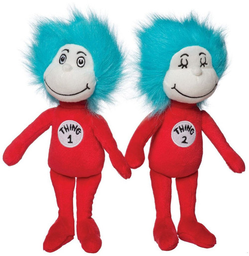 Dr. Seuss Thing 1 & Thing 2 10-Inch Plush Set