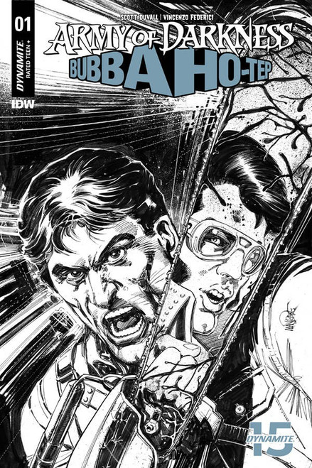 Dynamite Entertainment Army of Darkness Vs. Bubba Hotep #1 Comic Book [Mandrake Black & White Variant]