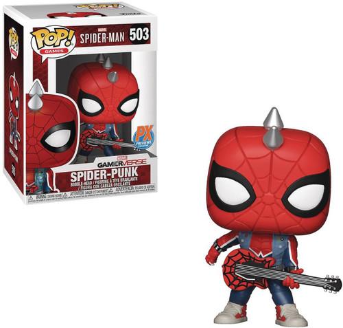 Funko Marvel Gamerverse Spider-Man POP! Marvel Spider-Punk Exclusive Vinyl Bobble Head #503