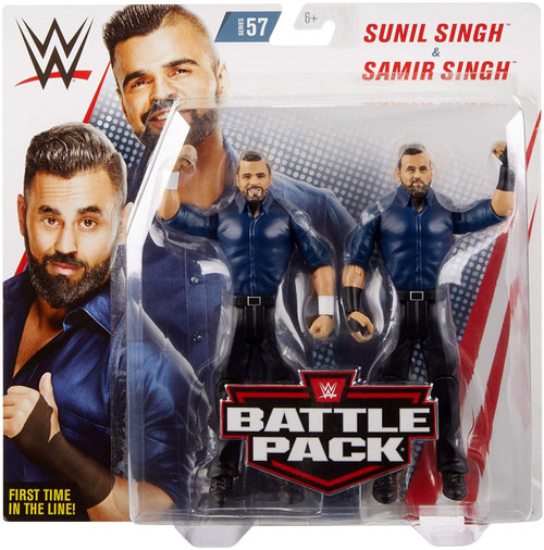 WWE Wrestling Battle Pack Series 57 Sunil Singh & Samir Singh Action Figure 2-Pack