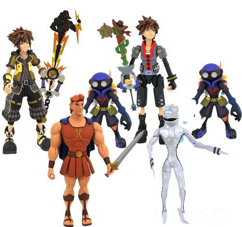 Disney Kingdom Hearts Series 4 Hercules, Dusk, Guardian Sora, Toy Story Sora & Air Soldiers Action Figure Set