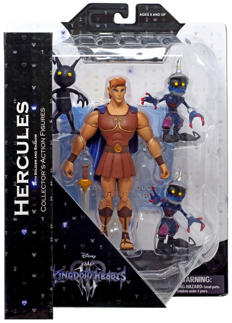 Disney Kingdom Hearts Series 4 Hercules with Soldier & Shadow Action Figure 2-Pack