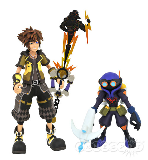 Disney Kingdom Hearts Series 4 Guardian Form Sora & Air Soldier Action Figure 2-Pack
