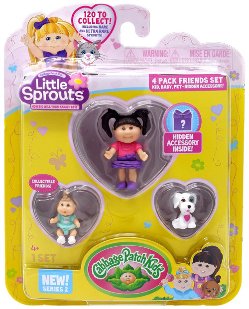 Cabbage Patch Kids Little Sprouts Series 2 Stacie Roxanne Mini Figure 4-Pack