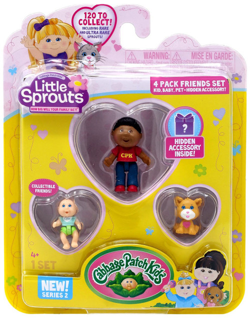 Cabbage Patch Kids Little Sprouts Series 2 Thompson Kai Mini Figure 4-Pack