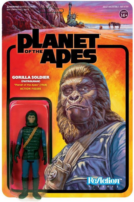 ReAction Planet of the Apes Series 2 Gorilla Soldier Action Figure [Patrolman]