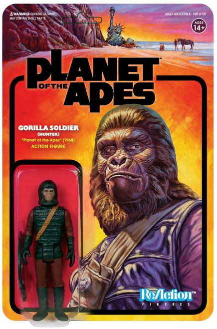 ReAction Planet of the Apes Series 2 Gorilla Soldier Action Figure [Hunter]