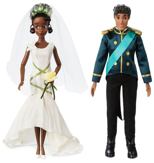 Disney Princess The Princess & The Frog Classic Tiana & Naveen Exclusive 11.5-Inch Wedding Doll 2-Pack Set