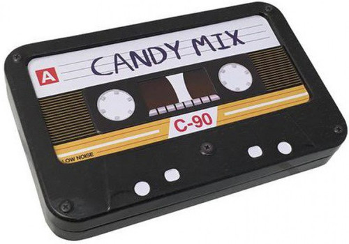 Candy Mix Cassette Tape 1.3 oz Candy Tin [Sweet Cherry]