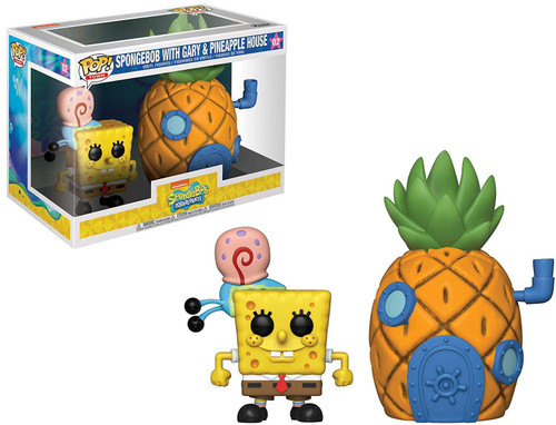 Funko Spongebob Squarepants POP! Town Spongebob with Gary & Pineapple House Vinyl Figure Set #02