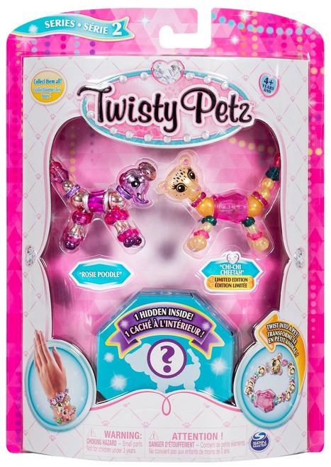 Twisty Petz Series 2 Rosie Poodle, Chi-Chi Cheetah & Surprise 3-Pack