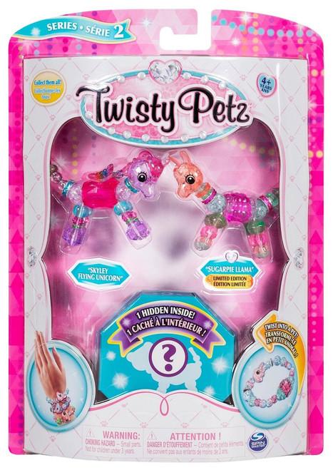 Twisty Petz Series 2 Skylet Flying Unicorn, Sugarpie Llama & Surprise 3-Pack