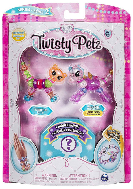 Twisty Petz Series 2 Bubbleyum Kitty, Sugarstar Flying Pony & Surprise 3-Pack