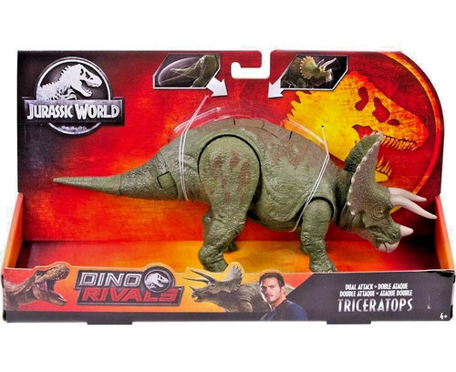 Jurassic World Fallen Kingdom Dino Rivals Triceratops Action Figure [Dual Attack]
