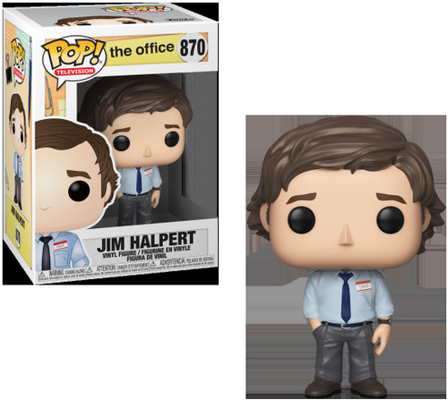 Funko The Office POP! TV Jim Halpert Vinyl Figure #870 [Clean Face, Regular Version]