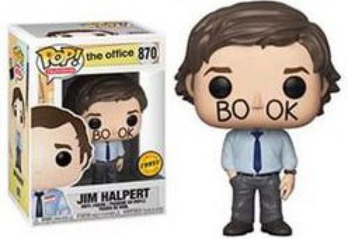 Funko The Office POP! TV Jim Halpert Vinyl Figure #870 [Book Face, Chase Version]