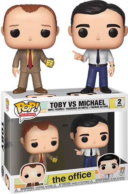 Funko The Office POP! TV Toby vs. Michael Vinyl Figure 2-Pack