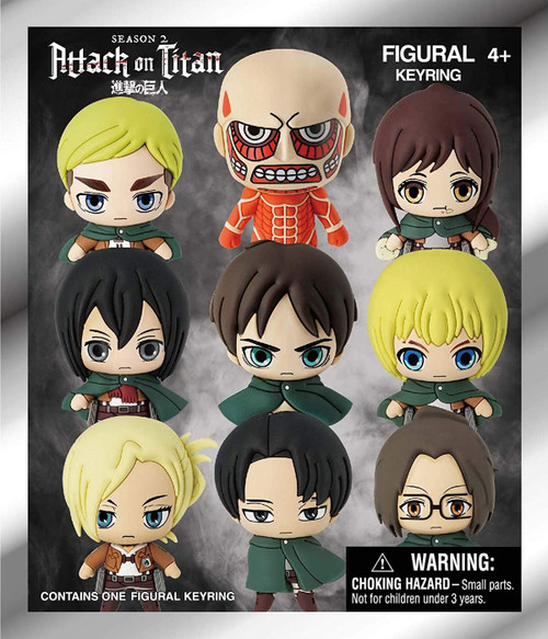 3D Figural Foam Bag Clip Attack on Titan Mystery Pack [1 RANDOM Figure]