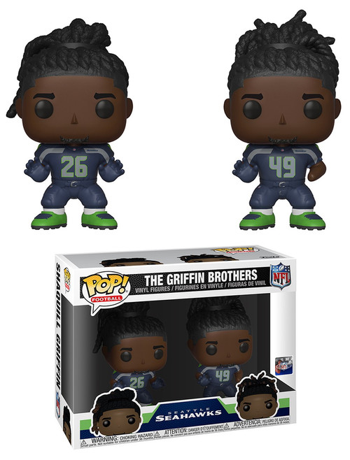 Funko NFL Seattle Seahawks POP! Sports Football Griffin Brothers Vinyl Figure 2-Pack [Shaquem & Shaquill]