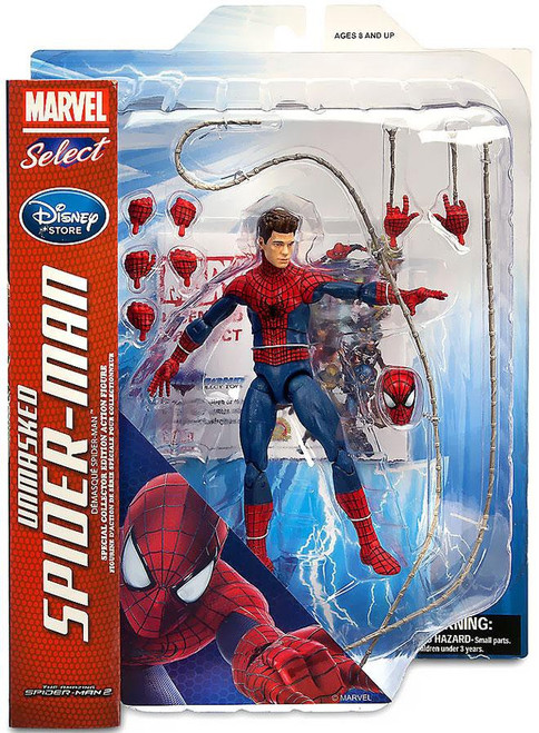 Amazing Spider-Man 2 Marvel Select Unmasked Spider-Man Exclusive Action Figure