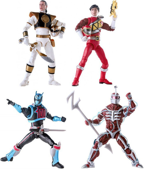 Power Rangers Lightning Collection Lord Zedd, White, Red & Shadow Rangers Set of 4 Action Figures