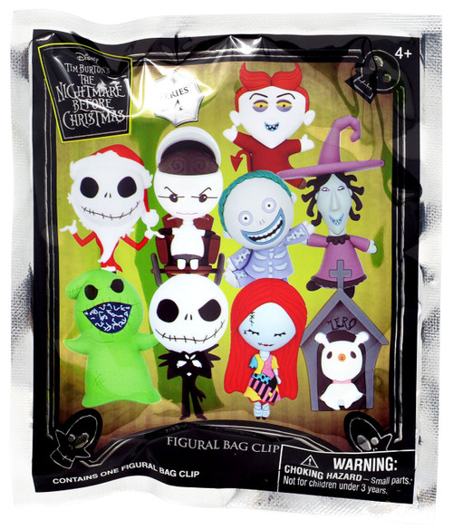 Nightmare Before Christmas 3D Figural Foam Bag Clip NBC Series 4 Mystery Pack