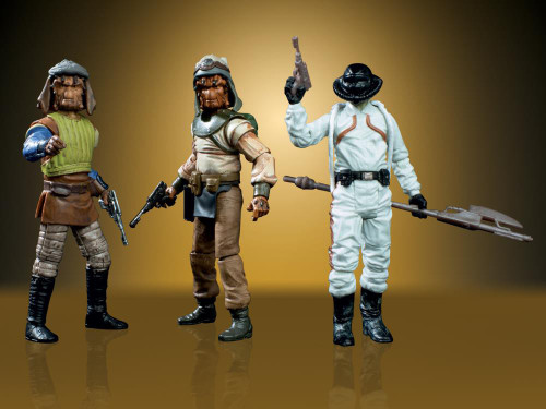 Star Wars Return of the Jedi Vintage Collection Vizam, Vedain & Brock Starsher Action Figure 3-Pack [Tatooine Skiff Guards]