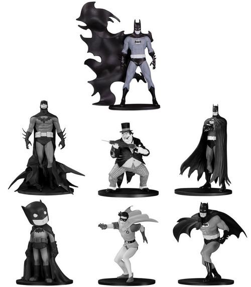 Black & White Batman Set 4 3.75-Inch Mini Statue Box [7 Statues!]