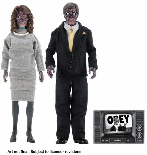 NECA They Live Male & Female Aliens Clothed Action Figure 2-Pack