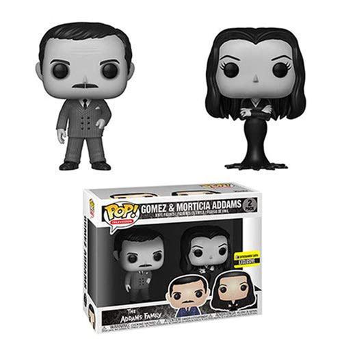Funko The Addams Family POP! TV Morticia & Gomez Exclusive Vinyl Figure 2-Pack [Black & White]