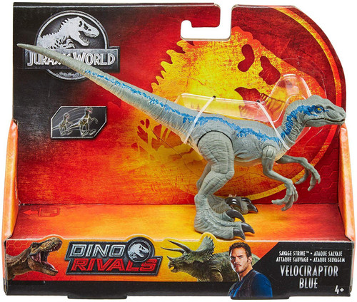 Jurassic World Fallen Kingdom Dino Rivals Velociraptor Blue Action Figure [Savage Strike, Leap]