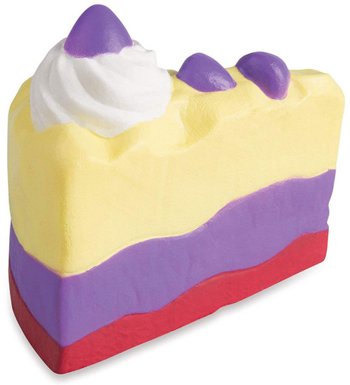 Soft'N Slow Squishies Series 1 Sweet Shop Banana Chocolate Cake Slice 3.5-Inch Squeeze Toy